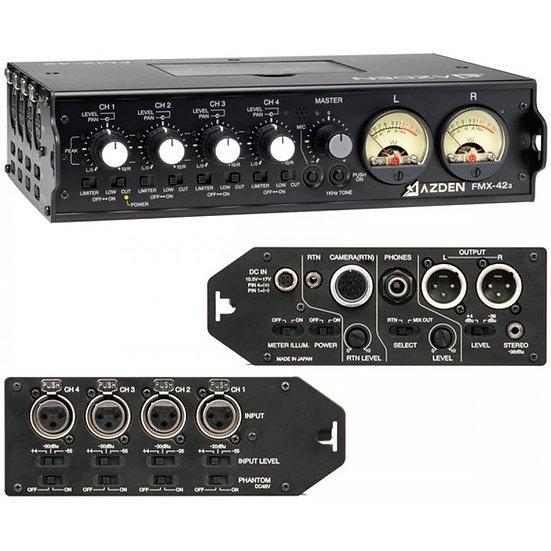 Mezclador de audio portátil Azden Fmx-42a