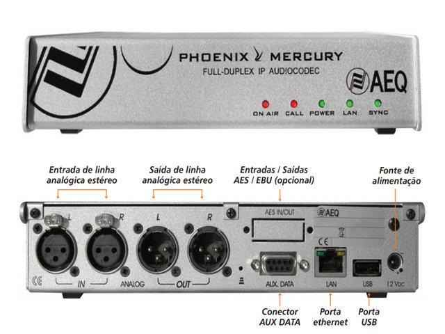 Audio Codec IP AEQ Phoenix Mercury