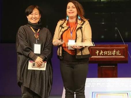 Upea palkintoseremonia the Central Academy of Drama -yliopiston tiloissa Pekingissä.