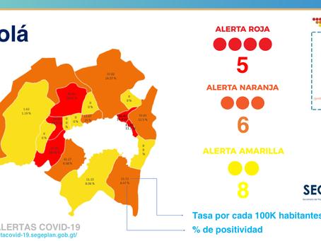5 municipios en rojo en Sololá