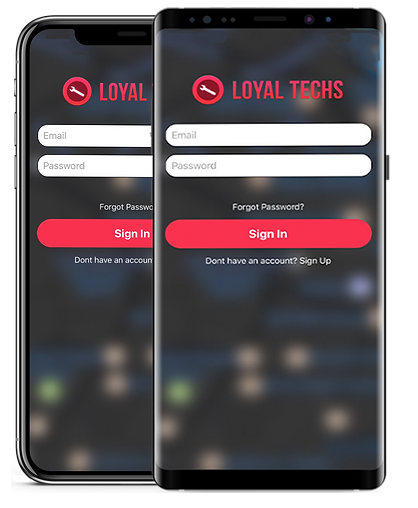 showcase of an app on two phone screens