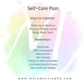 On Formalized Self-Care Plans