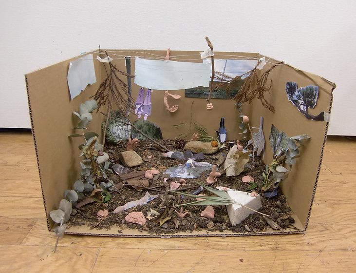 「はまれはまれと囁いた」 箱庭 Miniature garden