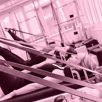 female on pilates equipment