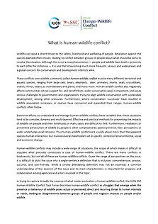 IUCN 2020 What is human-wildlife conflic