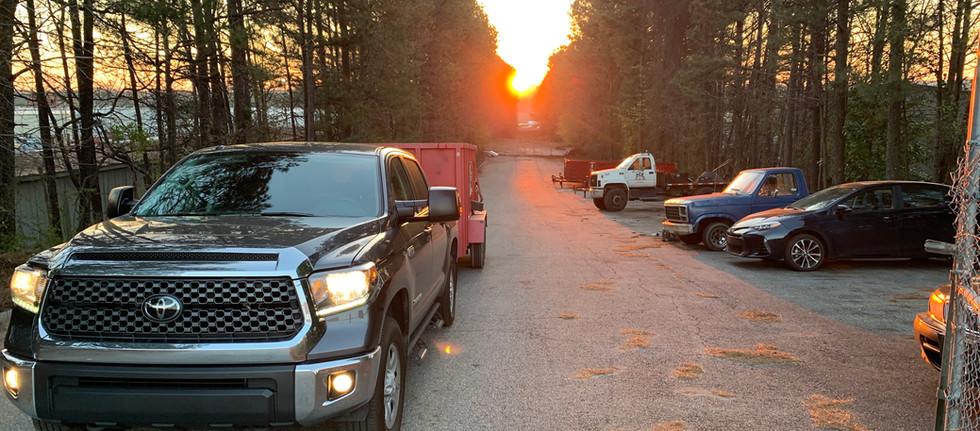 Trailer Yard Sunset