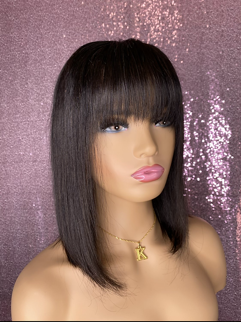 1b Bob With Bang 13x4 Lace Wig
