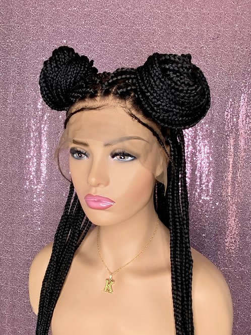 Kim Knotless Full Lace Braided Wig