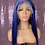 Thumbnail: Navy Blue Lavendar 13x6 lace Frontal Wig