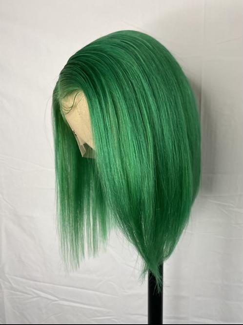 Lime Green 13x6 Bob Wig 100% human hair