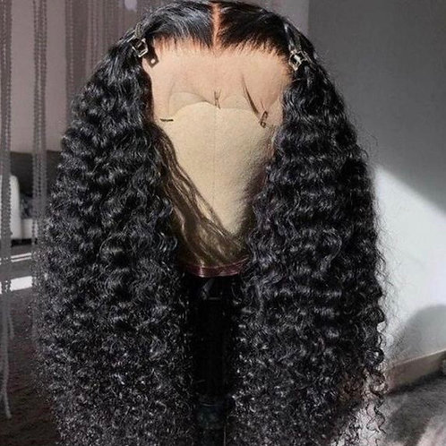 1b Deep Curly Lace Front Wig