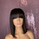 Thumbnail: 1b Bob With Bang 13x4 Lace Wig