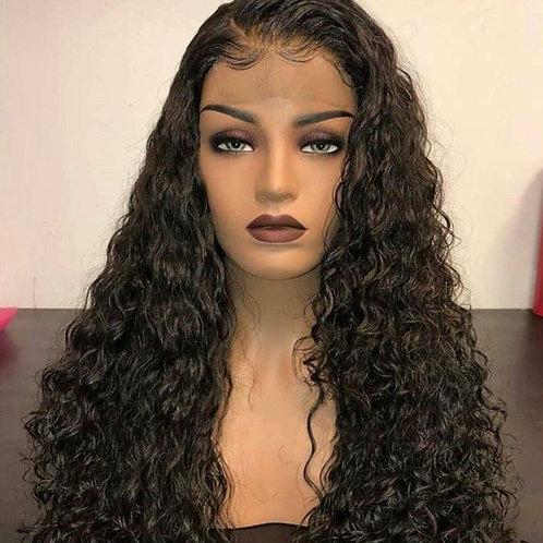 1b Deep Wave Lace Wig 100% Human Hair