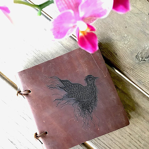 Sketch Leather Journal - Feathers