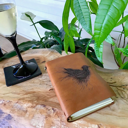 Leather Journal - Feathers