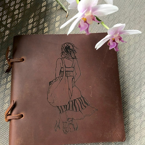 Sketch Leather Journal -Going Home