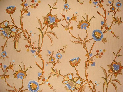 """Crewel Fabric Wool on Cotton Upholstery 60"""" x 1 Yard (By the Yard)"""