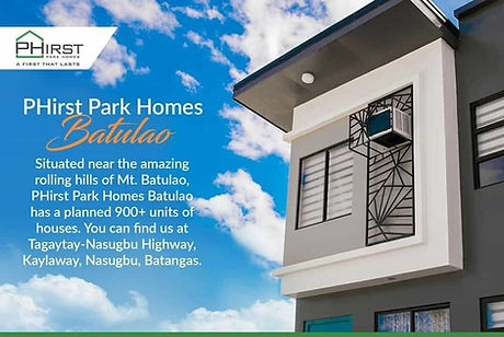 About Phirst Park Homes Batulao