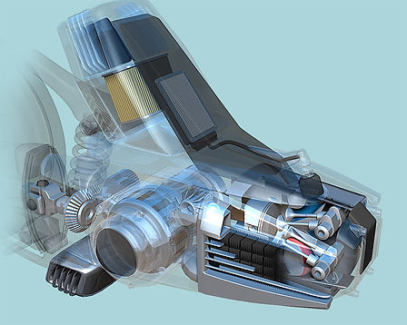 cutaway motorcycle engine illustration