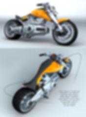 concept motorcycle cruiser LoGo single cylinder