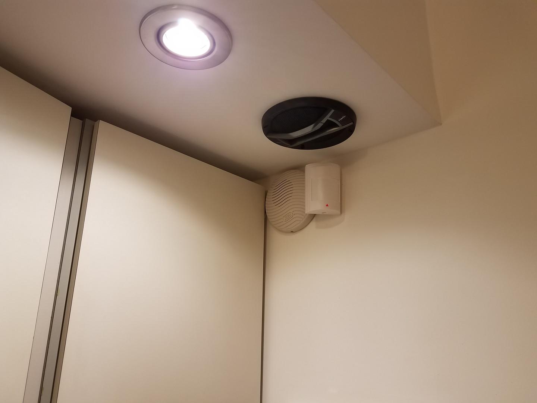 Sensor de movimiento pir infrarrojo inalámbrico y sirena interior