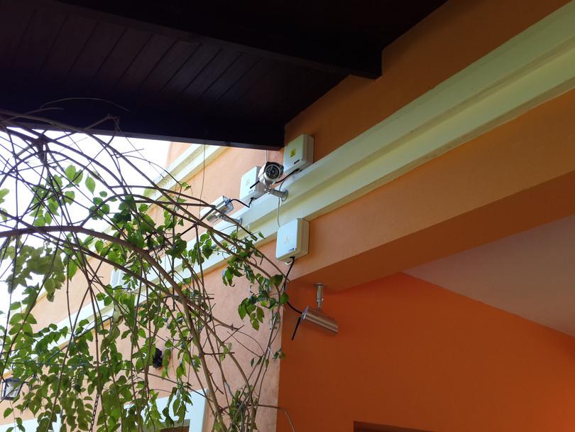Cámaras ip Foscam VGA 640x480 en exterior con cajas estancas de conexionado