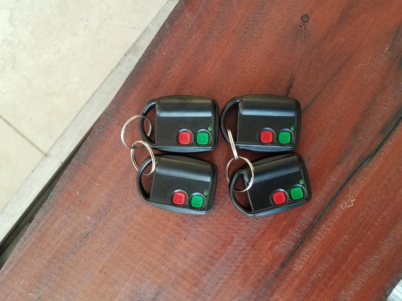 Controles remotos universales de 2 canales para central de alarma