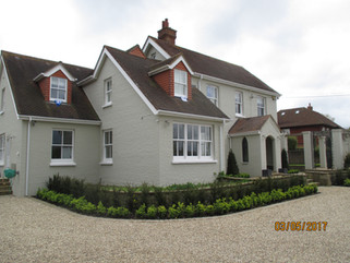Rear of house extension + decoration