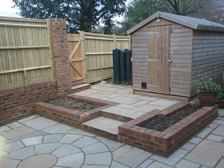Garden drainage and hard landscaping works