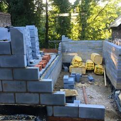 2 days into brick laying