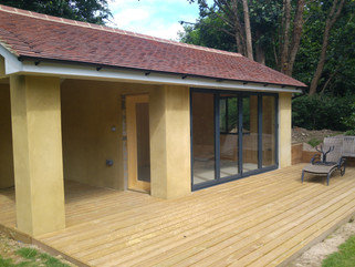 Rear kitchen extension and summerhouse addition