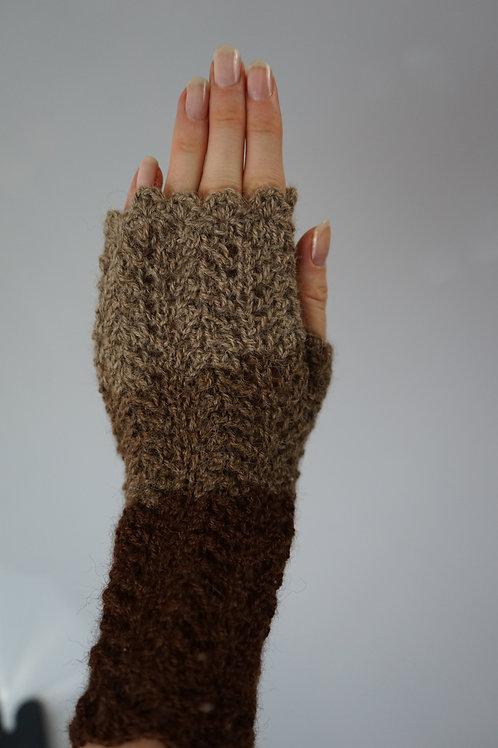 Rękawiczki bez palców z alpaki