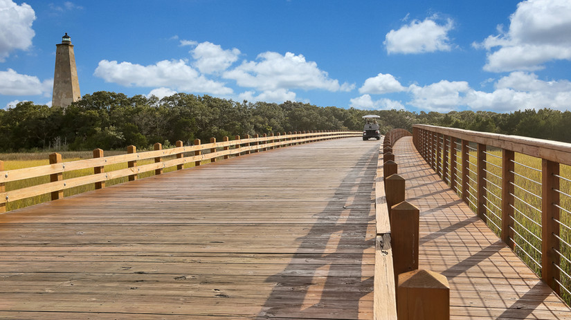 Bald Head Island boardwalk