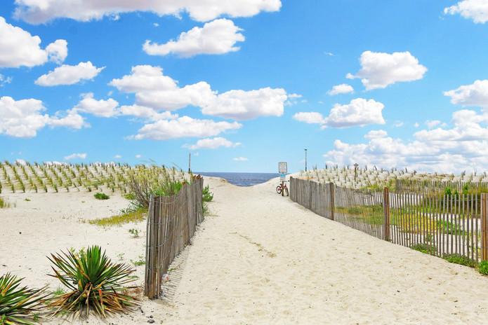 Oak Island beach entrance