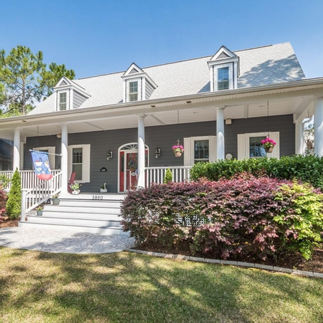 Low Country Style with a Large Cool Front Porch in St James - SOLD