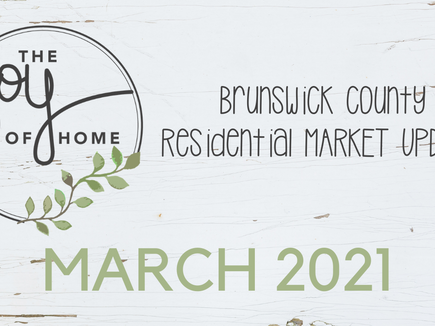 March yield's Brunswick County's highest real estate sales total in 2021, Sales volume nearly double