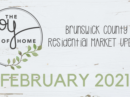 Brunswick County saw a 57% spike over last February's numbers • February 2021 Market Update