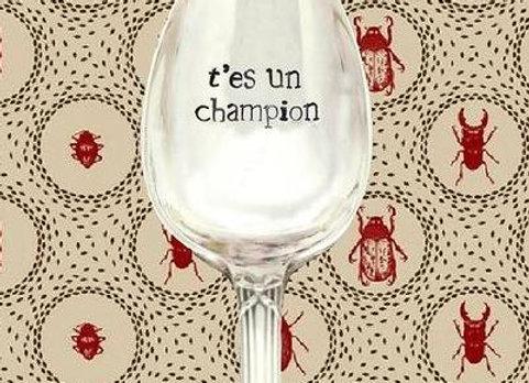 """Cuillère a café  """" t'es un champion """""""