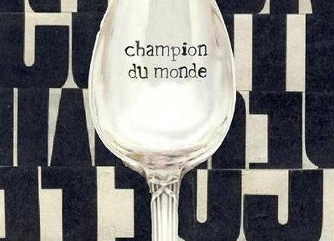 """Cuillère a café  """" champion du monde """""""