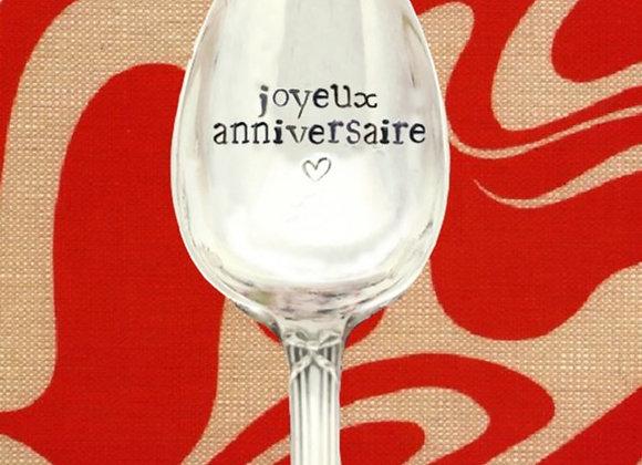 """Cuillère """" joyeux anniversaire ❤️"""""""