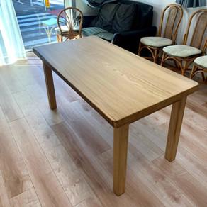 【生徒さん作品】無垢一枚板テーブル