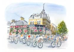 Ride London - passing the Raynes Park Tavern