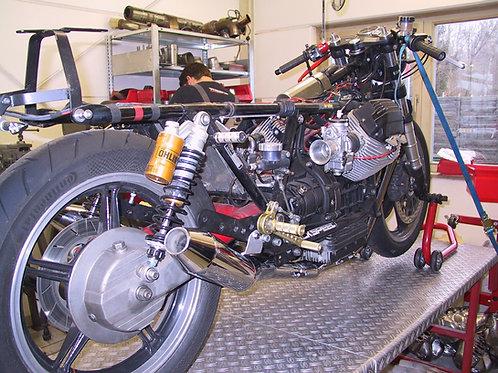 Moto Guzzi Sportschalldämpfer unter der Ölwanne inkl Krümmer