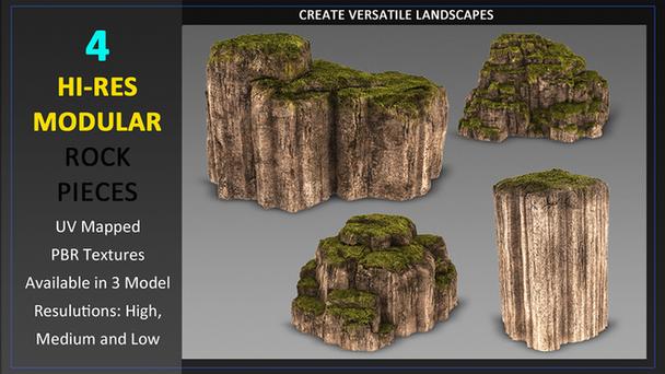 Mossy Modular Rocks Kit