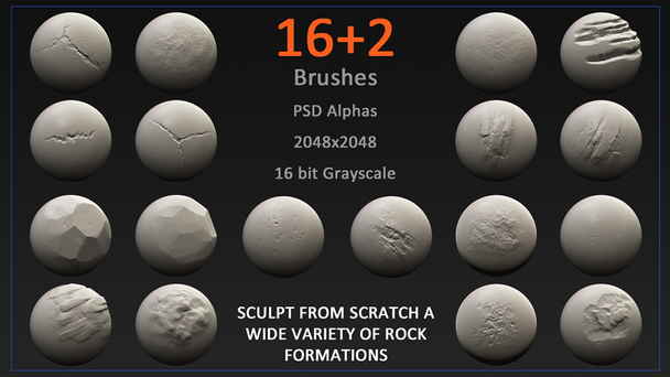 JoltBug Rock Sculpt Brushes