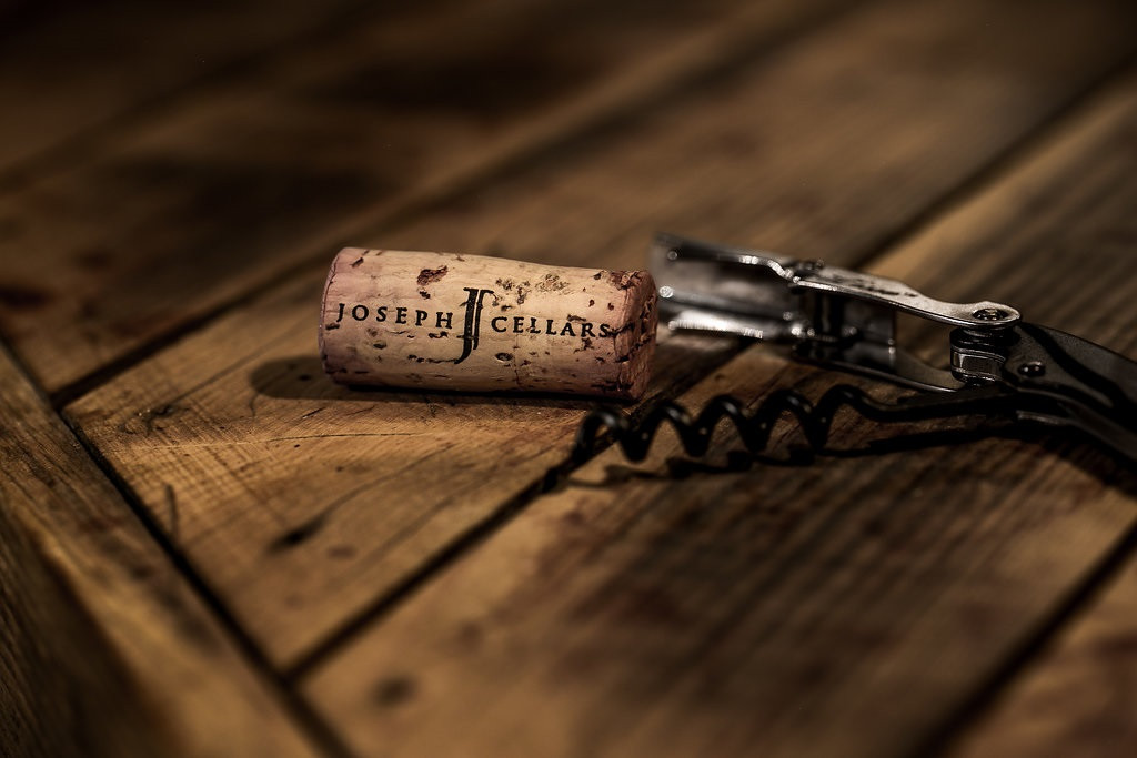 A cork in a corkscrew