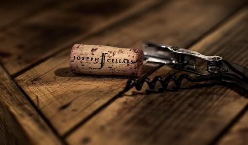 A cork in a corkscrew