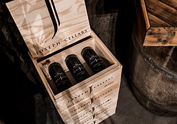A crate of Joseph Cellars red wine