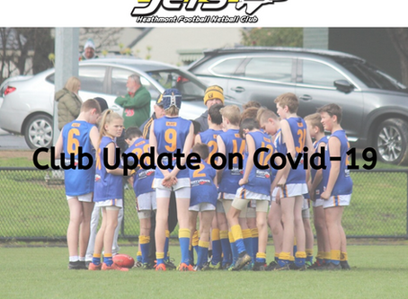 Update from the Club on Season 2020