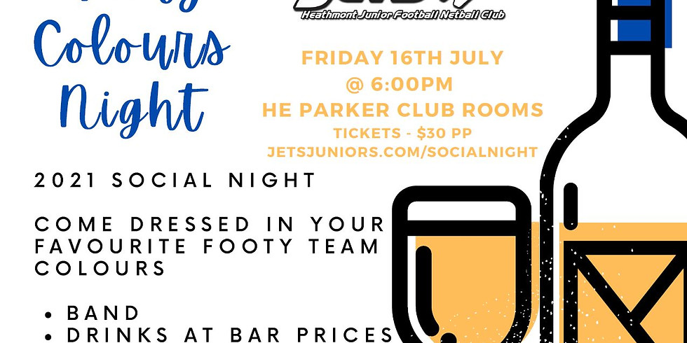 2021 Jets Footy Colours Social Night